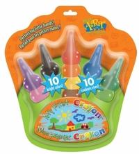 Восковые карандаши надеваемых на пальчики 10 шт.
