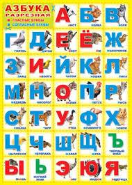 Плакат Азбука разрезная А2