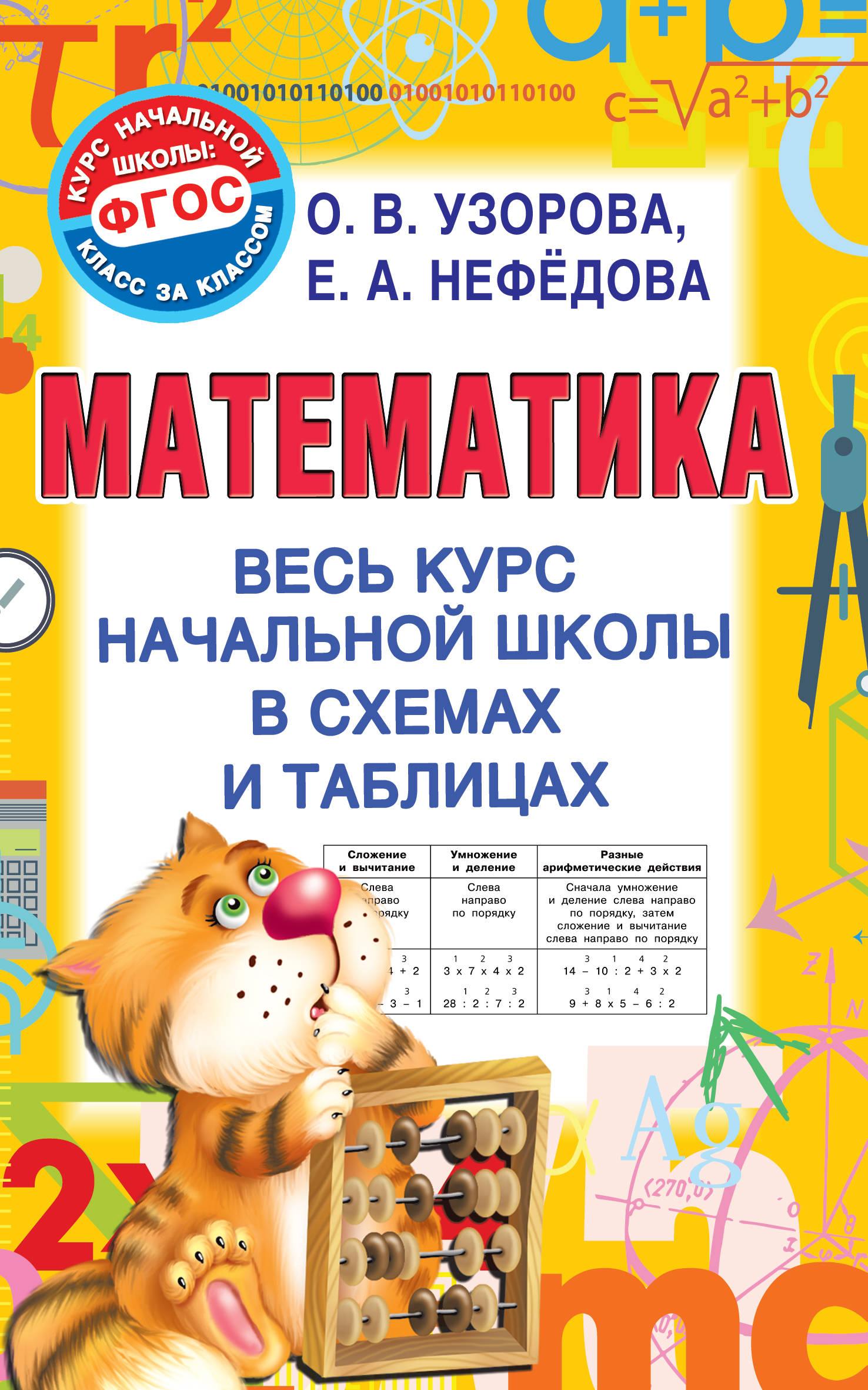 Математика: Весь курс начальной школы в схемах и таблицах