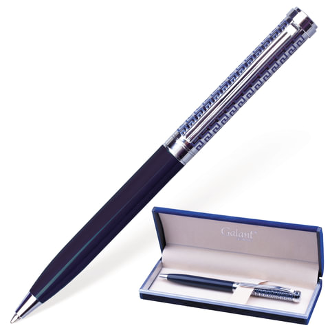 Ручка подар шар Galant синяя Empire Blue лак/хром 0,7мм