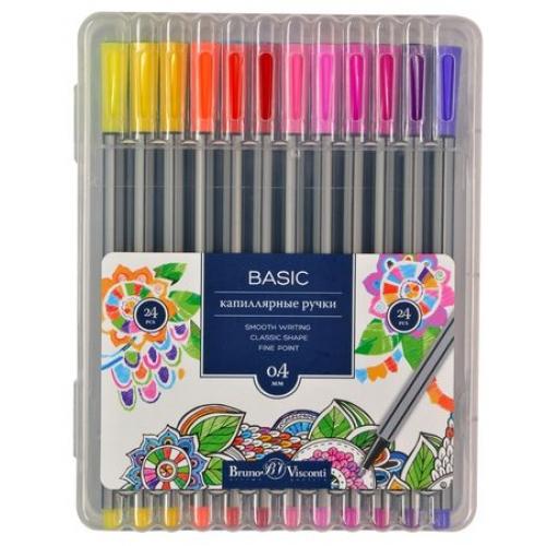 Ручки капиллярные 24 цв BV Basic (линеры)
