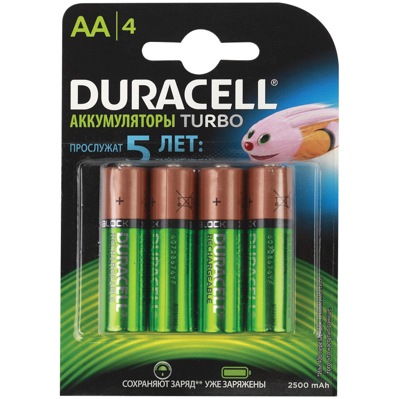 Батарейка-аккумулятор AA пальчик Duracell 2500mAh (1 ШТУКА)