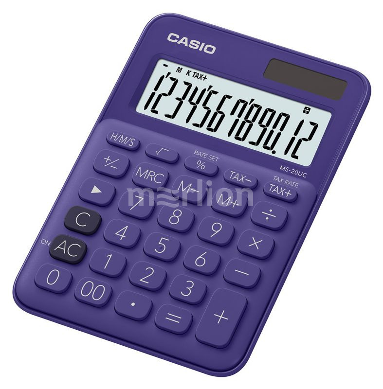 Калькулятор 12 разр. Casio настольный фиолетовый