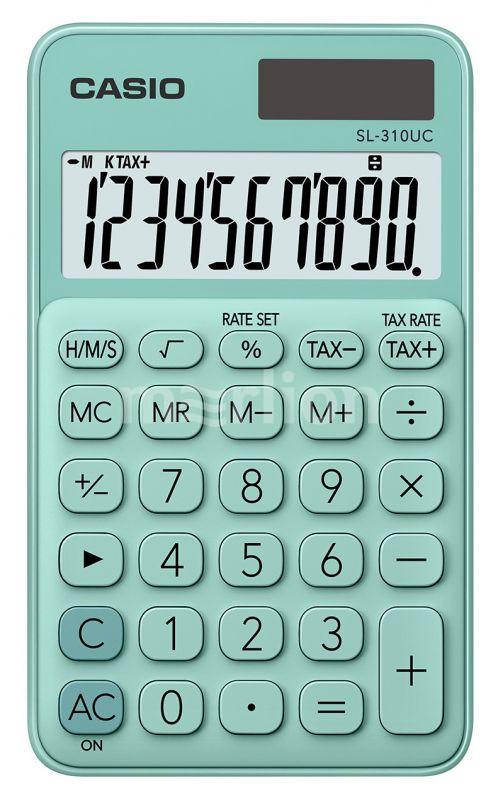 Калькулятор 10 разр. Casio карманный зеленый