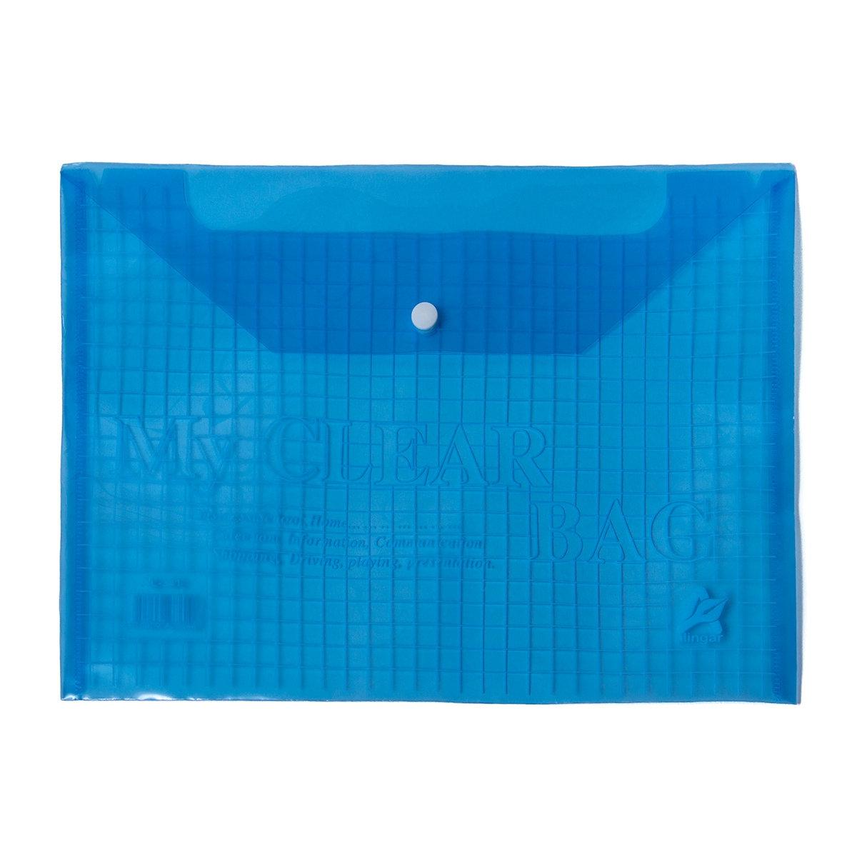 Папка-конверт А4 Alingar на кнопке ассорти клетка