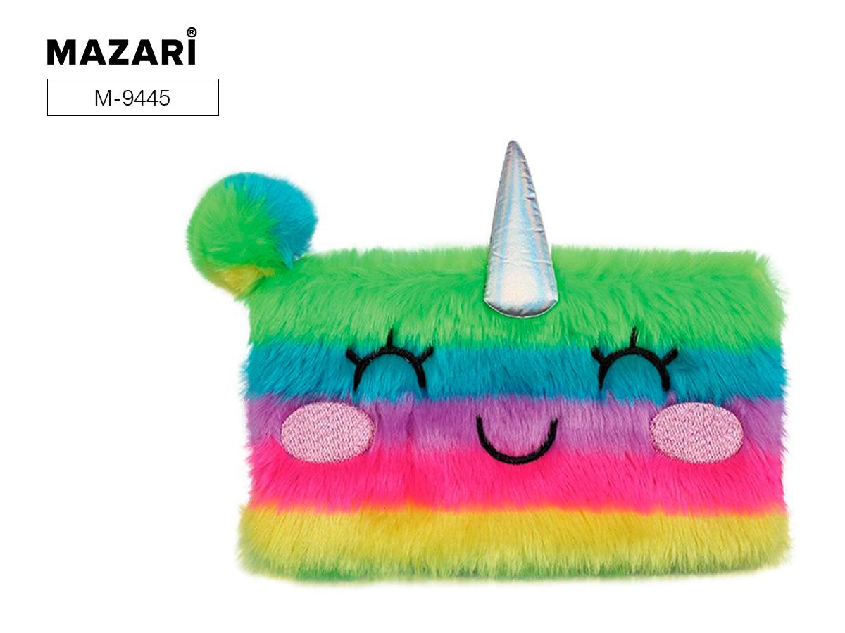 Пенал-косметичка Mazari Rainbow Joy меховой