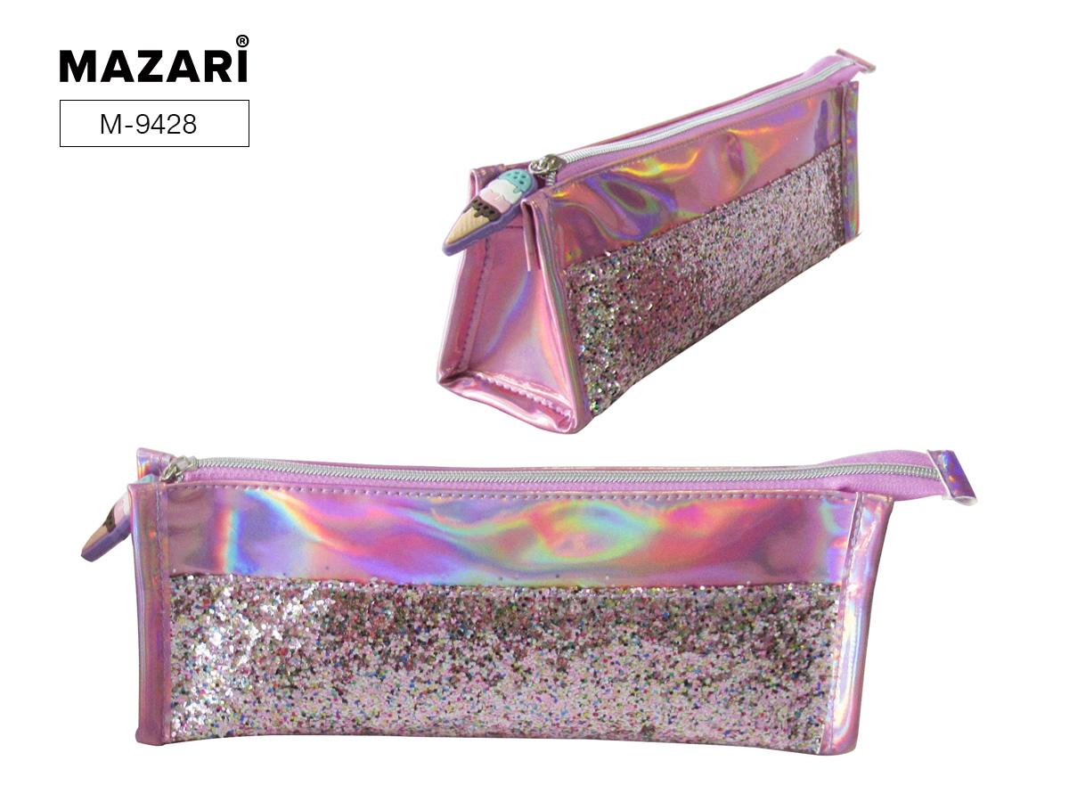 Пенал-косметичка Mazari Pink Magic M блестки