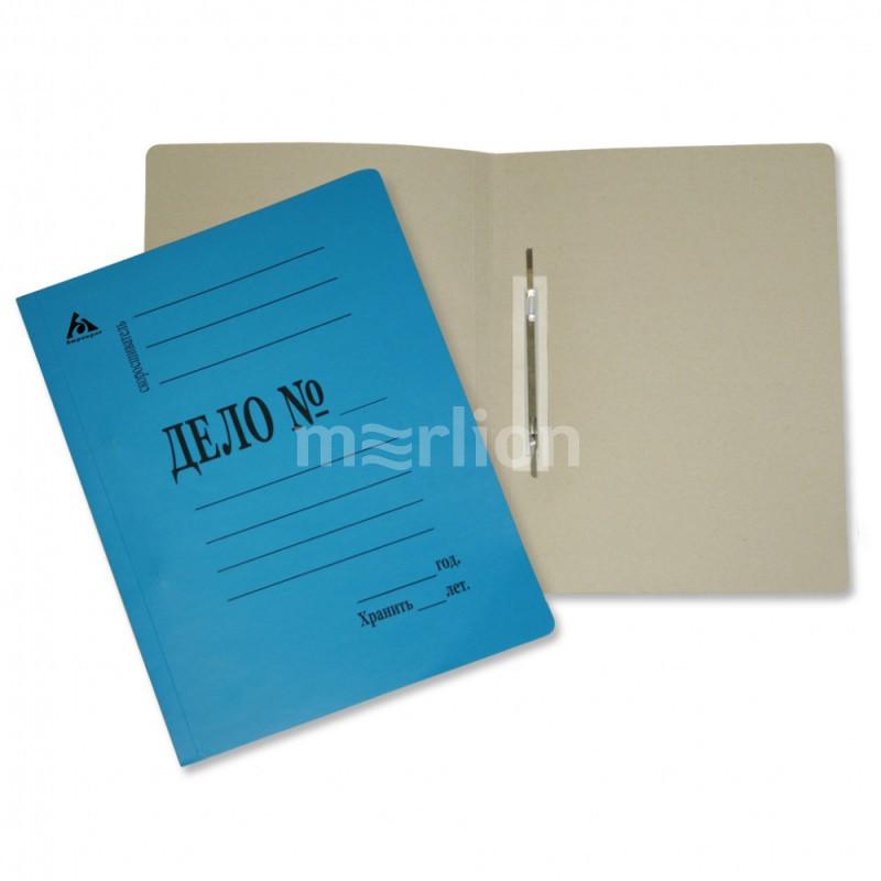 Папка-скоросшиватель Дело синяя картон 260г/м2 мелован