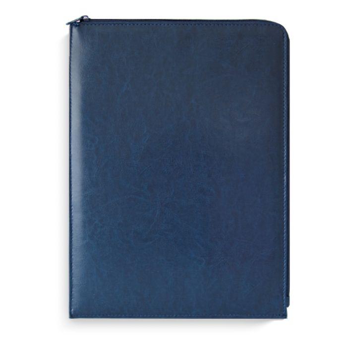 Папка на молнии А4 Сариф синий кожзам