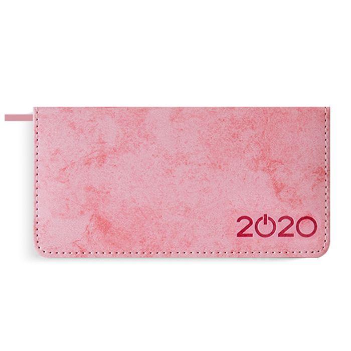 Еженедельник А6 2020г Escalada Джинс Делавэ розовый кожзам