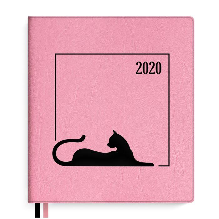 Еженедельник А7+ 2020г Escalada Розовый ПВХ