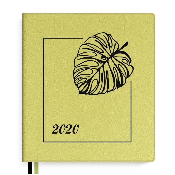 Еженедельник А7+ 2020г Escalada Салатовый ПВХ