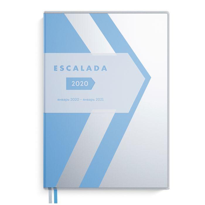 Еженедельник А6 2020г Escalada Прозр Голубой ПВХ