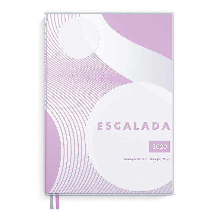 Еженедельник А6 2020г Escalada Прозр Розовый ПВХ