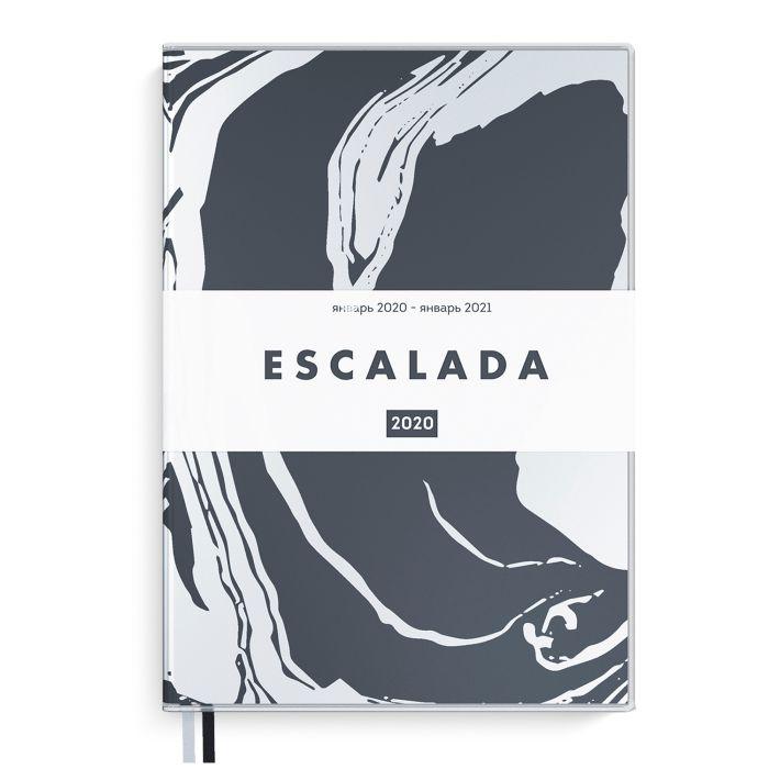 Еженедельник А6 2020г Escalada Прозр Черный ПВХ