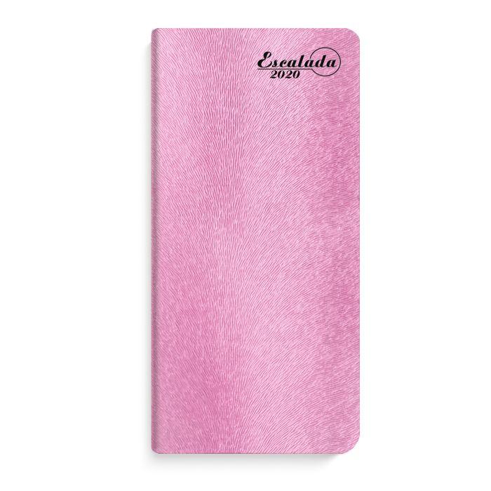 Еженедельник А6 2020г Escalada Кафскин розовый металлик кожзам