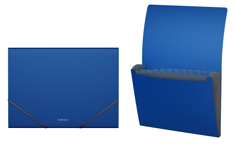 Папка на резинках А4 12отд EK Classic синий (картотека)
