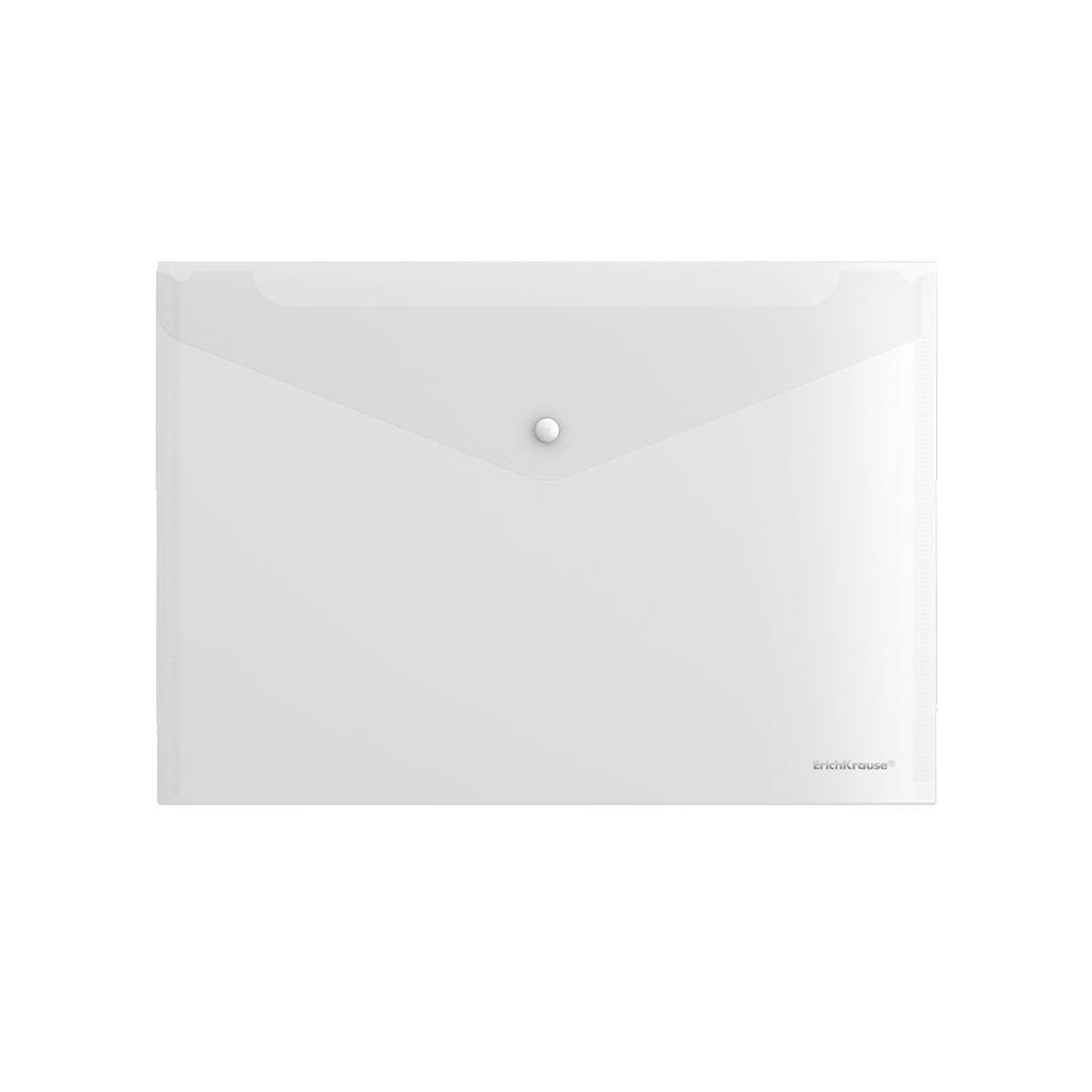 Папка-конверт А4 EK Fizzy прозрачный на кнопке
