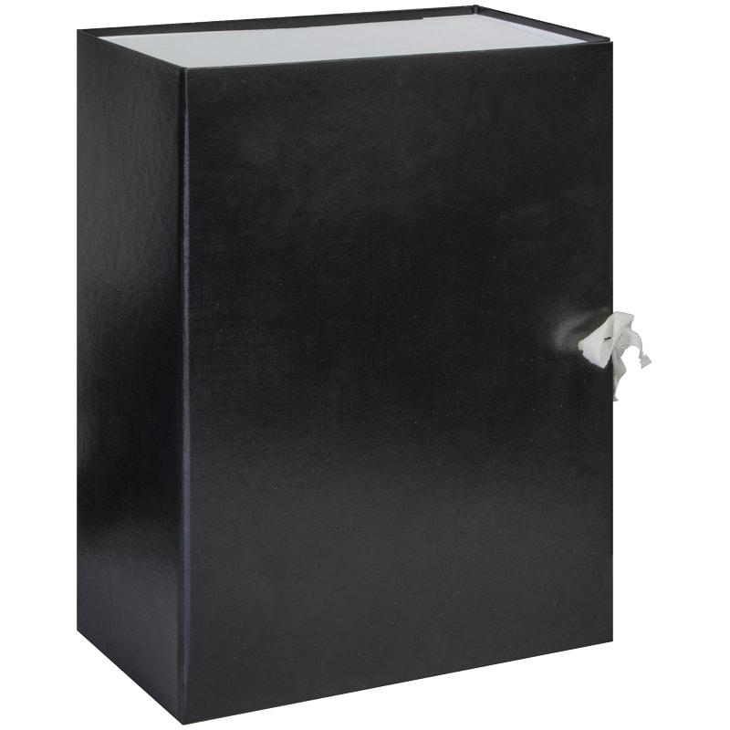Папка-короб архивная 120мм бумвинил разборн на завязках ассорти