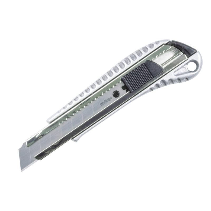 Нож 18мм Berlingo Metallic auto-lock металл корпус