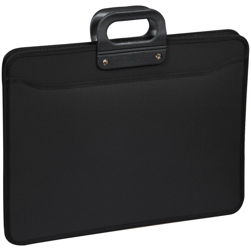 Портфель с ручкой 3отд А3 OS на молнии черный