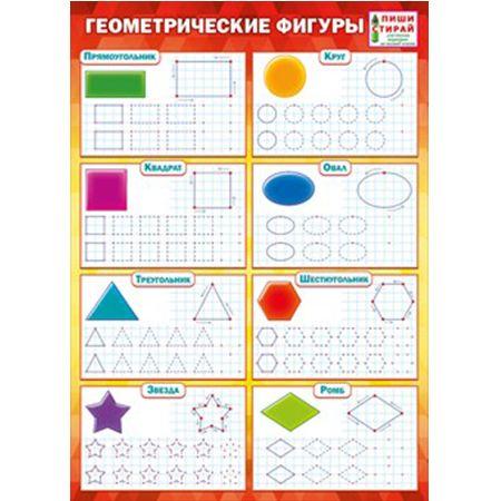 Плакат Геометрические фигуры А4 Пиши Стирай