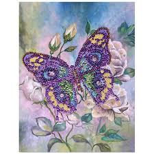 Творч Мозаика из пайеток на холсте 30*40 Бабочка