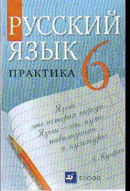 Русский язык. 6 кл.: Практика: Учебник