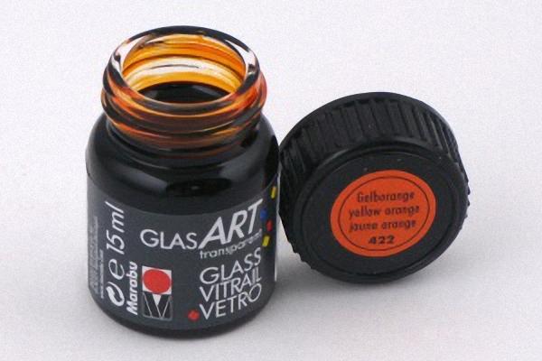 Лак-краска витражный GlasArt Желто-оранжевый 15мл