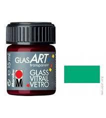 Лак-краска витражный GlasArt Зеленый темный 15мл