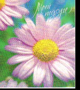 Открытка 0175.097 Моей подруге блест вред нежная ромашка (розовая)