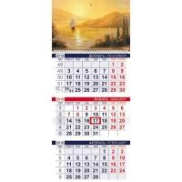 Календарь квартальный 2022 3Кв1гр3_25846 Flower map