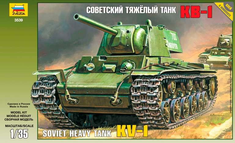 Сборная модель КВ-1 Советский тяжелый танк КВ-1 1/35