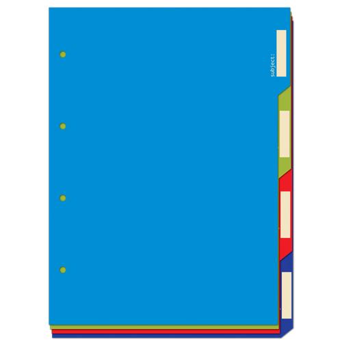 Разделитель А5 д/тетрадей картон