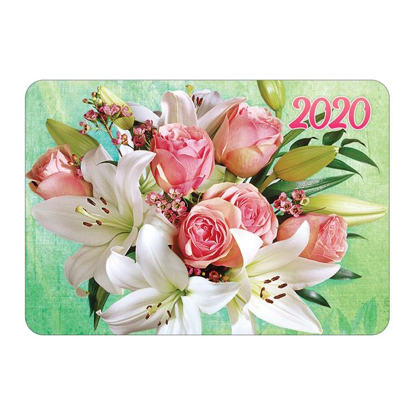 Календарь карманный 2020 Кк7 059741 Цветы ассорти