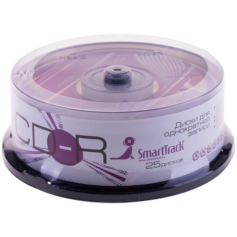 Диск CD-R SMART TRACK / Smart Buy 80min 700MB 52x Cake box (25/50/100)
