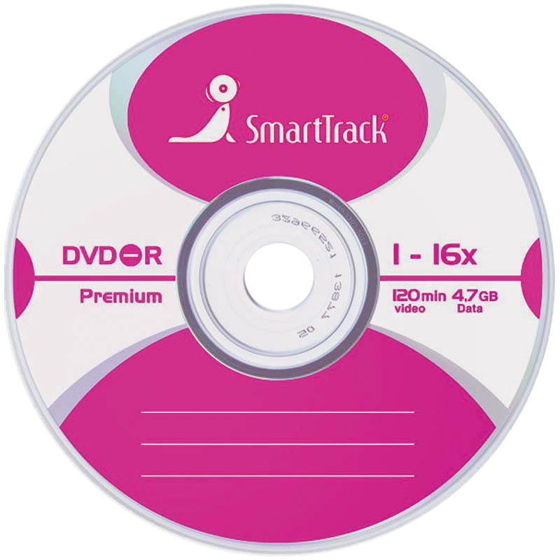 Диск DVD-R SMART TRACK/Smart Buy 4.7Gb16x Slim