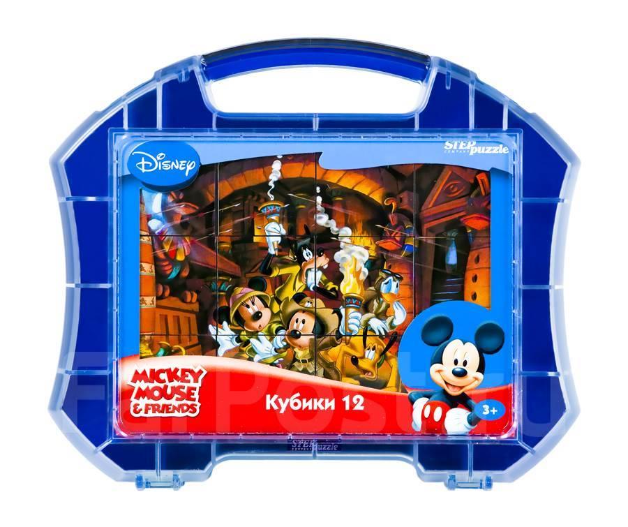 АКЦИЯ19 Кубики 12шт Step Mickey Mouse & Friend