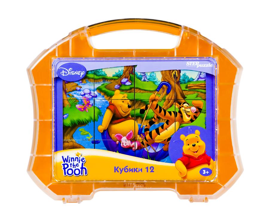 АКЦИЯ19 Кубики 12шт Step Winnie the Pooh Винни Пух