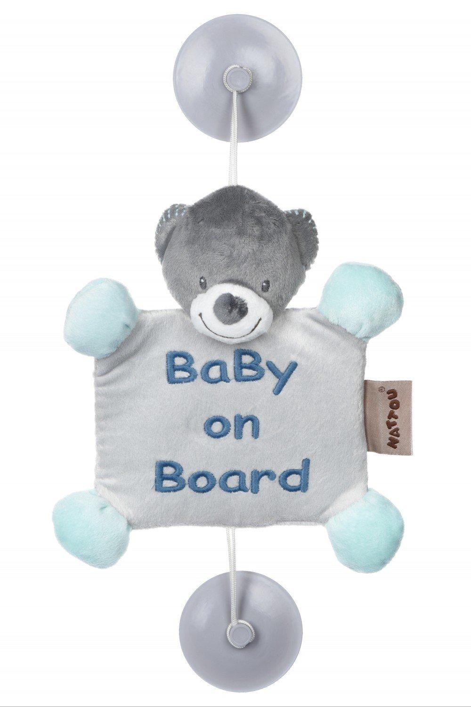 АКЦИЯ19 Мягкая игрушка Baby on Board (мишка в голубом) на присосках