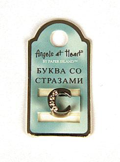 """Буква со стразами Angel at Heart """"С"""""""