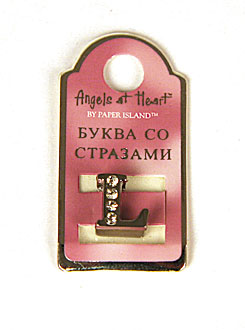 "Буква со стразами Angel at Heart ""L"""