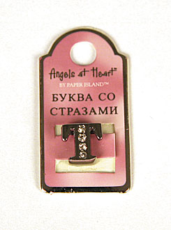 "Буква со стразами Angel at Heart ""Т"""