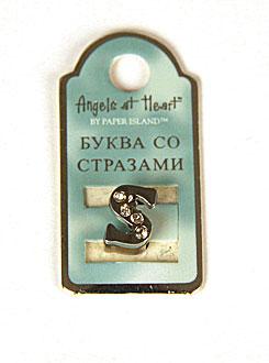 "Буква со стразами Angel at Heart ""S"""