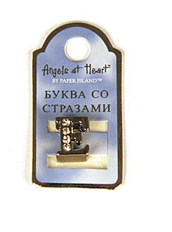 """Буква со стразами Angel at Heart """"Е"""""""