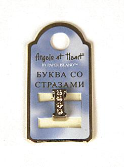 """Буква со стразами Angel at Heart """"I"""""""