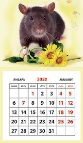 Календарь на магните 2020 КР33-20032 Год Крысы