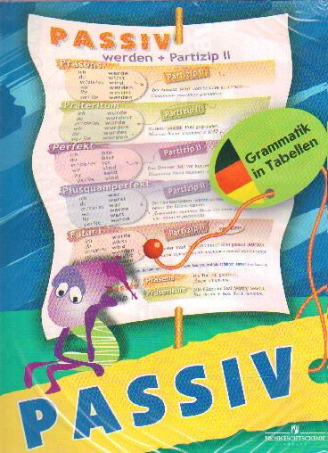 Плакат Немецкий язык. Глагол: Пассивный залог: Таблица настенная складная