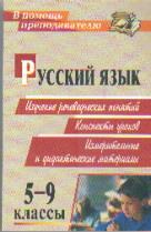Русский язык. 5-9 классы. Изучение речеведческих понятий: конспекты уроков.