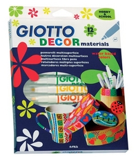 Фломастеры 12 цв Fila Giotto Decor Materials д/декор. разл. поверхн.